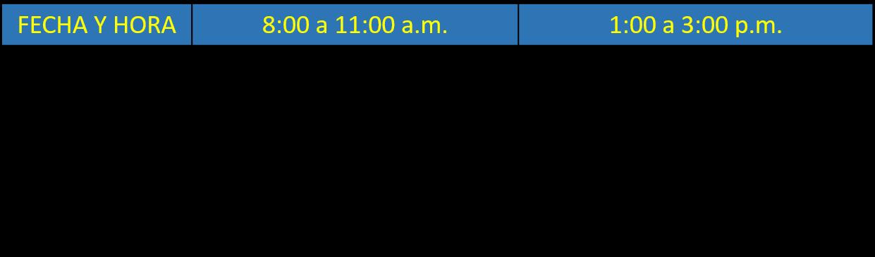 calendario de matricula