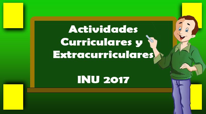 Actividades Curriculares y Extracurriculares de Mayo 2017